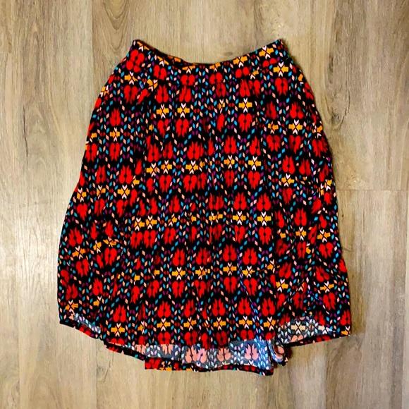 LulaRoe patterned skirt, size small